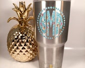 Yeti Decal / Monogram Decal / Yeti Rambler / Yeti Monogram / Yeti Personalized / Custom Yeti Cup / Personalized Yeti Lilly Pulitzer