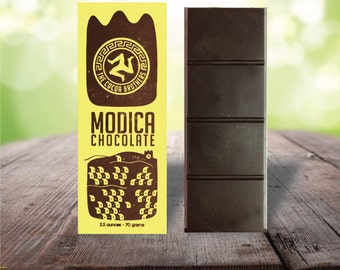 VANILLA - Modica Chocolate - Artisan Dark Chocolate Bar