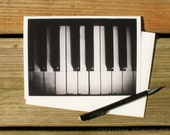 Keys (black & white) // Photo Card // Piano Card // Blank Inside // Greeting Card // Gift for Musician // Mail or Keepsake