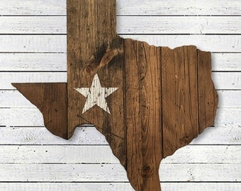 Texas State Flag Wooden Cut Out
