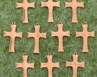 Enamelling: 10 x Copper Blank Craft Shape.  Cross Flared