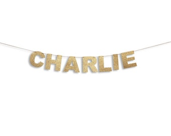 Name Banner, Custom Birthday Name Banner,  Birthday Custom Name Garland, Birthday Banner, Birthday Glitter Garland, Birthday Decoration
