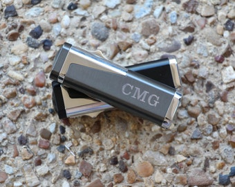 Personalized 3 Torch Jet Flame Cigar Lighter Punch Cuban - Gift for Groomsman Groom Wedding Father