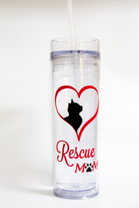 Pet Lover Tumbler, Animal Rescue, Dog, Cat, Breed, Pets, Paw Print, Heart, Love, Acrylic Tumbler with Straw, Double wall, Insulated cup