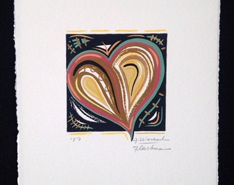 heart artwork, unique valentine, small painting, contemporary art, love abstract art
