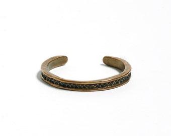 Friendship Jewelry Braided Cuff Bracelet Bronze Chunky Cuff Braided Bracelet Thin Cuff Unisex Bronze Cuff Bracelet