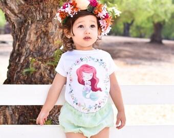 Princess Ariel, The Little Mermaid, Princess Ariel Shirt, The Little Mermaid Outfit, The Little Mermaid Shirt, Princess Ariel Birthday Girl