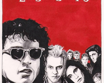 The Lost Boys - Movie Illustration PRINT
