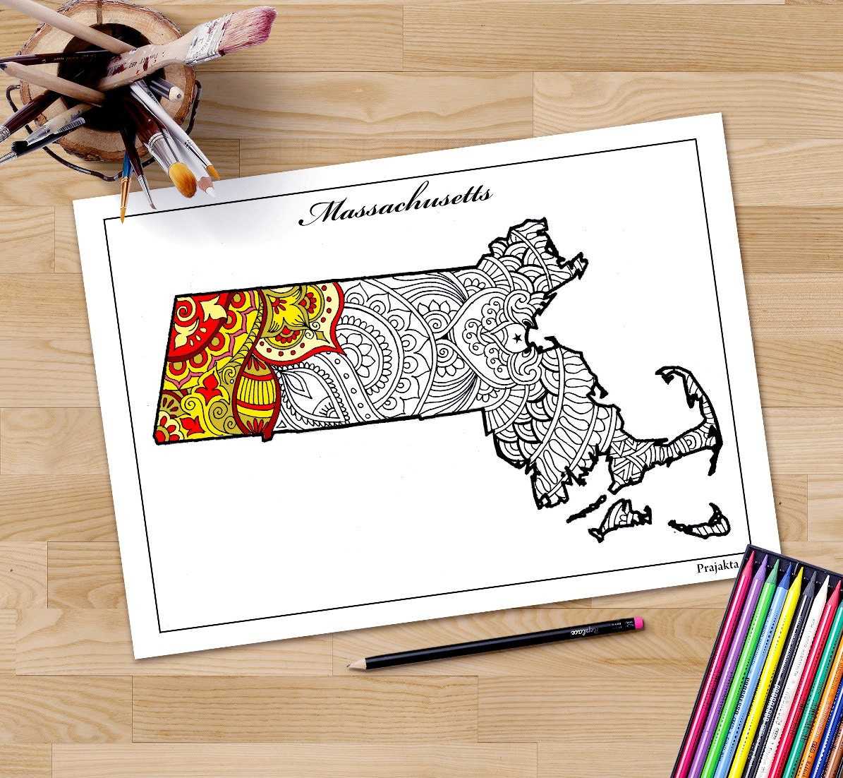 massachusetts map coloring page state maps maps as