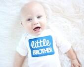 Little Brother Bodysuit - Little Brother One Piece - Baby Boy Shirt - Baby Boy Gift - Baby Shower Gift - Newborn One Piece - Newborn Photo