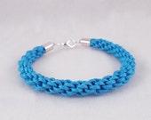 Cera (Light blue cord kumihimo bracelet w/ silver plate findings)