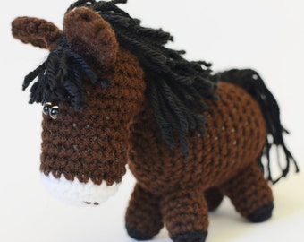 Plush Brown Horse - Equestrian Gift - Gift for Horse Lover - Horse Decor - Horse Art - Equine Gift - Horse Stuffed Animal - Horse Nursery