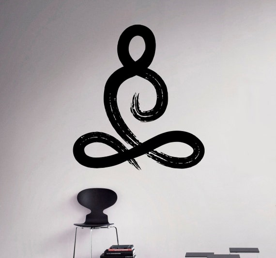Symbol Yoga Pose Wall Vinyl Decal Yoga Studio Wall Sticker - Yoga studio wall decals