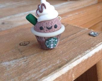 Frappacino Cupcake Charm ~ Fairy Kei, Kawaii, Starbucks