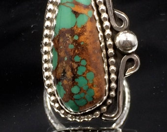 Royston Turquoise & Sterling Silver Ring Sz 7.5 WBC