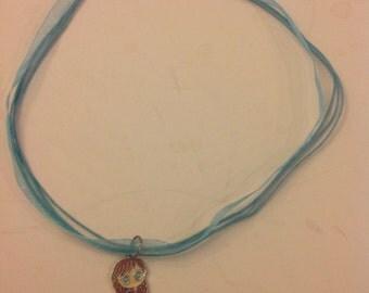 """Disneys,Frozen """"Anna"""" charm necklace"""