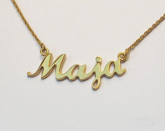 NAME Necklace,Gold,  Personalized Name, Necklace with Name of Your Choice, Nameplate necklace, FREE SHIPPING