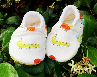 Soft baby Shoes/ Caterpillar Baby Shoes/ Soft Sole Shoes/ Cotton Baby Shoes/ Baby Slippers/ 0-3 Months/ Baby Boy Shoes/ Baby Girl Shoes