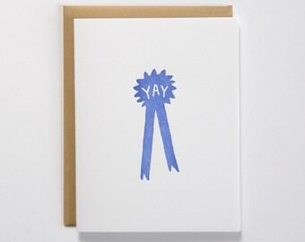 Blue Ribbon Yay Card