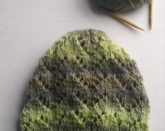 Arrow Lace Beanie Pattern