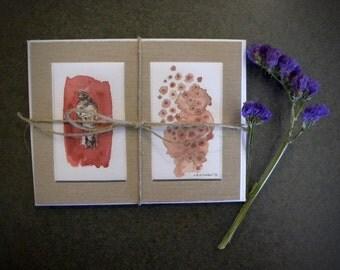 4 Postcard Stationery Set