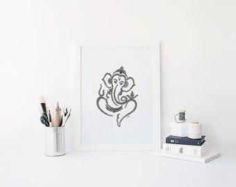 Ganesh Drawing Print