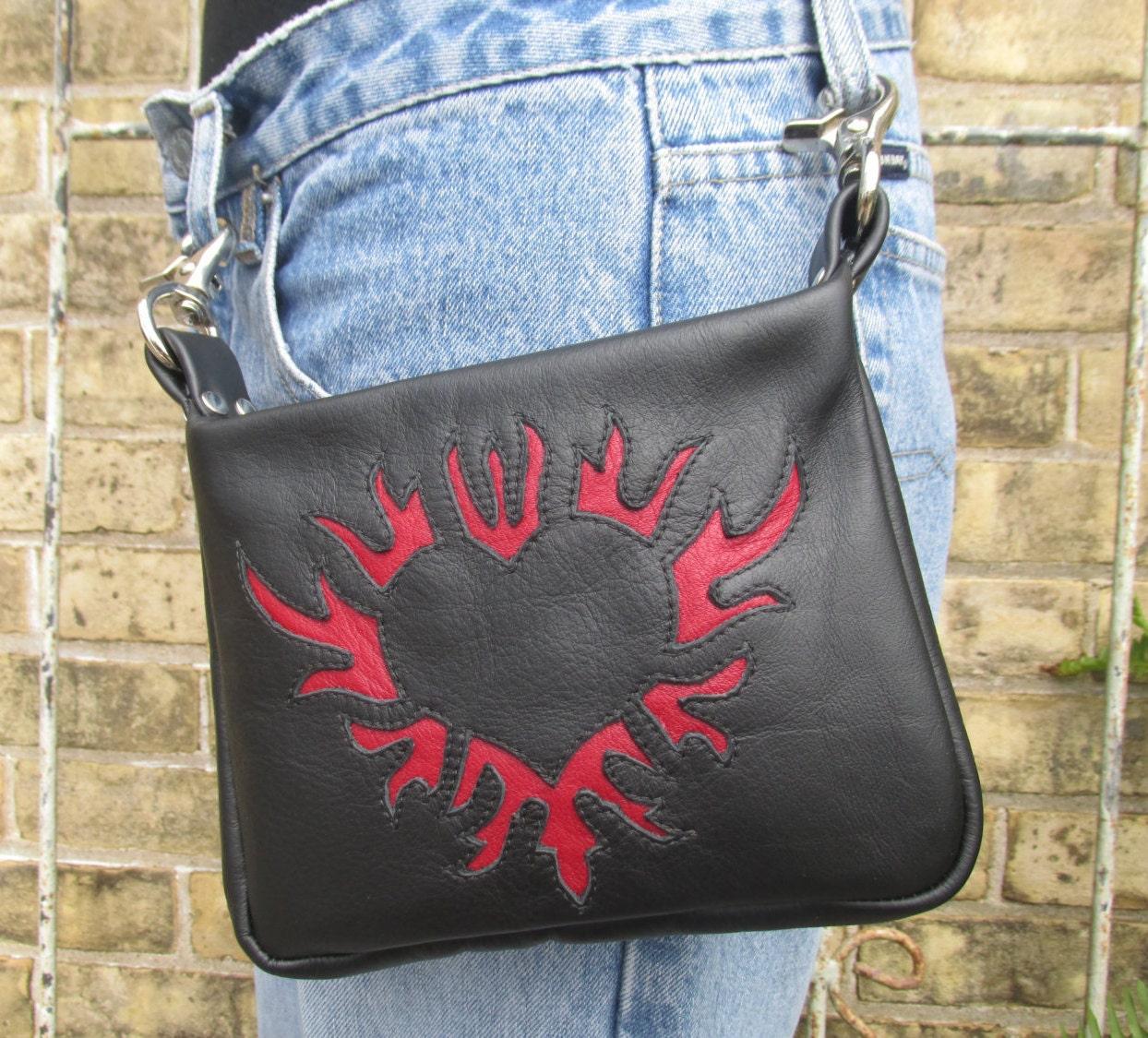 Popular Leather Hip Bag Women39s Black Clip On Hip Purse
