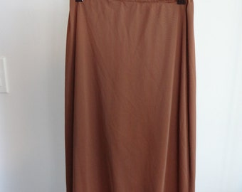 1940s vintage brown skirt slip