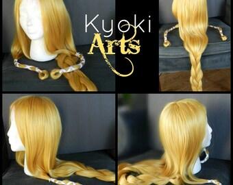 Custom Made to Order Legend of Zelda - Princess Zelda Wig braids hyrule warriors ocarnia of time video game link cosplay costume ribbon
