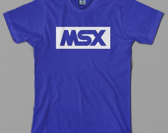MSX T Shirt  - retro computer, logo, japanese, gamer, videogame, konami, microsoft, pc, commodore, geek, gift - All sizes & colors available