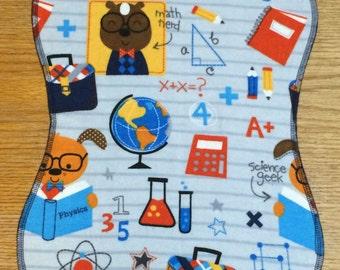 Burp Cloth, Math & Science