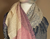 Acrylic Scarf Pink Navy Gray Holiday Gift For Her Soft Long Delicate Scarf Fall Winter Multi Color Plaid Blanket Scarf Cozy Shawl Scarf