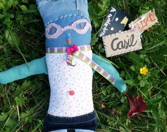 Soft doll fabric / Cloth handmade doll / Baby room decor / Original rag doll / Stuffed art doll / doll fabric / cloth doll.