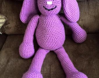 1 doll ready to ship!! Mim Mim inspired purple bunny amigurumi