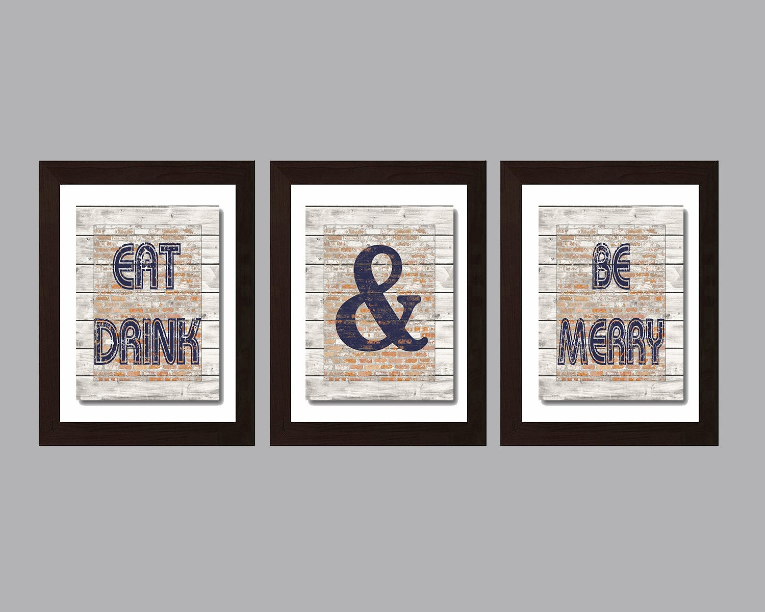 Modern kitchen wall art rustic kitchen decor eat and drink - Modern rustic wall decor ...