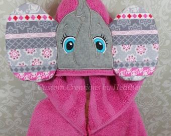 Girl Elephant Hooded Towel on High Quality Belk Department Store Towel