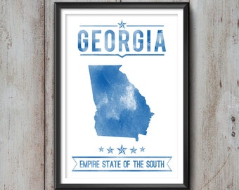 GEORGIA State Typography Print, Typography Poster, Georgia Poster, Georgia Art, Georgia Gift, Georgia Decor, Georgia Print, Georgia Love,Art
