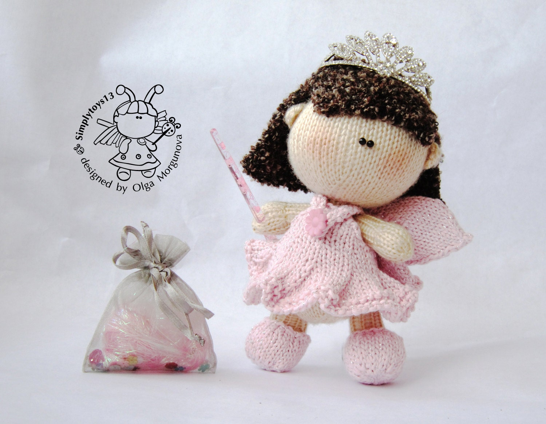 Pebble doll Fairy knitting pattern knitted round Amigurumi