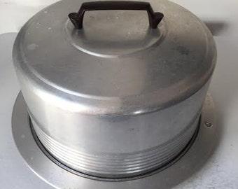 Vintage Aluminum Cake Saver by Regal