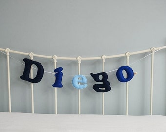 Name garland - personalised garland - large felt letters - bunting - garland - children's decor - customise - MADE TO ORDER