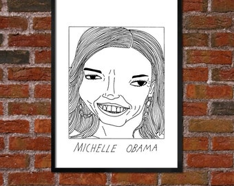 Badly Drawn Michelle Obama - Politics Poster