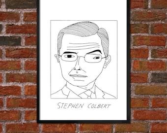Badly Drawn Stephen Colbert - Poster