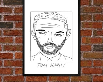 Badly Drawn Tom Hardy - Poster