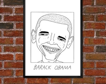 Badly Drawn Barack Obama - Politics Poster