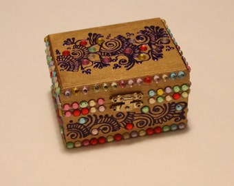 Gold Multicolor Jewelry Box