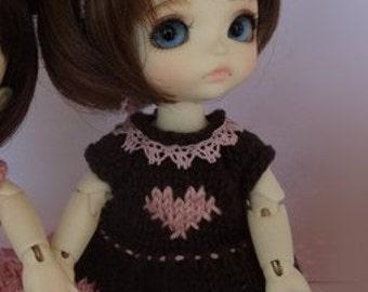 dress for doll tiny 15-16cm bjd type Lati Yellow, Pukifee, Luts tiny delf