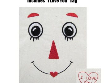 INSTANT DOWNLOAD Raggedy Ann Face Redwork Machine Embroidery Designs - Fits 4x4 Raggedy Ann & Andy