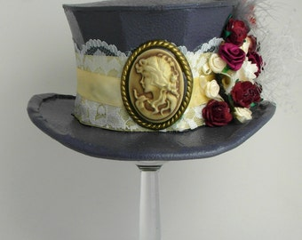 Beautiful Floral and Lace Victorian - Mini Top Hat