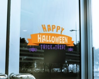 Happy Halloween Window Cling Decal