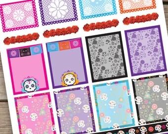 Day of the Dead Decorative Planner Stickers, Día de Muertos, Life Planner Stickers, Erin Condren.
